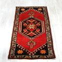 トライバルラグ・トルコ絨毯103×49cmヤストゥク手織りヴィンテージラグシワス