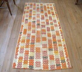 オールドジジム・ウルファ白地のジジム・2枚のパネル 185×88cm