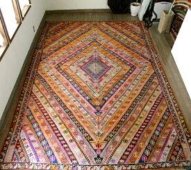 オールドキリム・エルズルム461×284cm大きなひし形デザイン