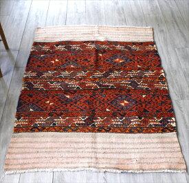 収納袋マフラッシュを開いたオールドキリム154×104cm緻密なスマック織り