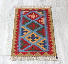 シラーズ・カシュカイ族の手織りキリム ミニサイズダスタファリン