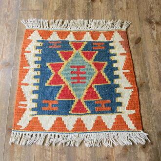 Kaiserikilim,MINDER 大小 48 × 47 厘米土耳其 Kilim 织造、 羊毛 100%