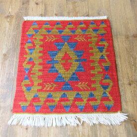 カイセリキリム・ミンダーサイズ45×42cmトルコキリム手織り・ウール100%