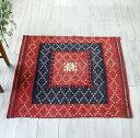 正方形のソフレ・オールドキリム/クルディッシュ101×114cm刺繍のようなスザンニ織りの小さな花
