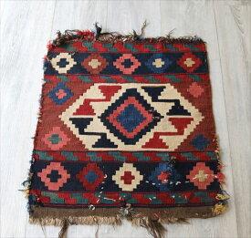 オールドキリム・マフラッシュのフラグメント/アンティーク・コレクションピース56×52cmミニサイズ/Caucasus Handweaven Kilim Antique Collectable OUTLET・難あり品