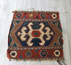 オールドキリム・マフラッシュのフラグメント/アンティーク・コレクションピース54×53cmミニサイズ/Caucasus Handweaven Kilim Antique Collectable OUTLET・難あり品
