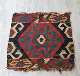 オールドキリム・マフラッシュのフラグメント/アンティーク・コレクションピース50×49cmミニサイズ/Caucasus Handweaven Kilim Antique Collectable OUTLET・難あり品
