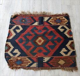 オールドキリム・マフラッシュのフラグメント/アンティーク・コレクションピース49×51cmミニサイズ/Caucasus Handweaven Kilim Antique Collectable OUTLET・難あり品