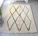 トライバルラグ・部族絨毯/Tuluトゥルトルコ・手織りカーペット235×176cmパイルの長いモロッコラグ風のラグ
