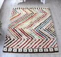 トライバルラグ・部族絨毯/Tuluトゥルトルコ・手織りカーペット213×167cmパイルの長いモロッコラグ風のラグ