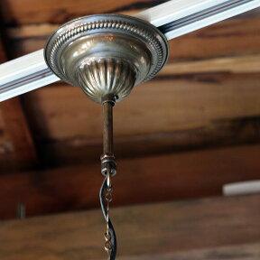 トルコガラスランプ/エスニック/照明ペンダントランプ/六角形・パシャ・ヘキサゴナルパープルS灯具付き・白熱電球付属