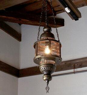 オットマンランプ・パシャ/ヘキサゴナルグリーンM灯具セット・白熱電球付き