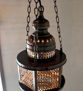 オットマンランプ・パシャ/ヘキサゴナルクリアM灯具セット・白熱電球付き