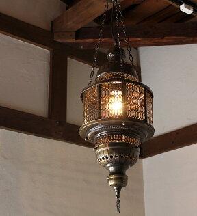 オットマンランプ・パシャ/オクタゴナルグリーンL灯具セット・白熱電球付き