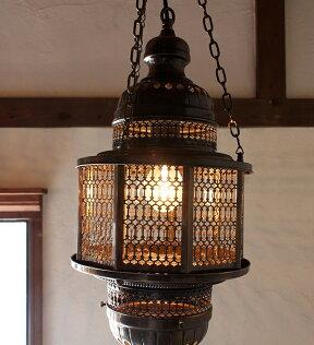 オットマンランプ・パシャ/オクタゴナルクリアL灯具セット・白熱電球付き