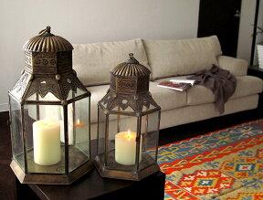 ブラス製ランタン(キャンドルホルダー)アラブ風モロッコランプ・ihex02店舗照明・エスニック・BOHO・輸入照明