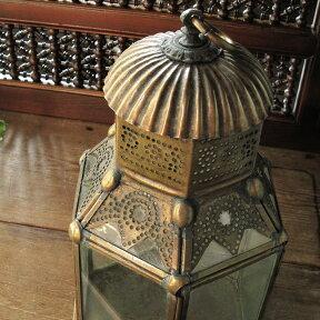 ブラス製ランタン(キャンドルホルダー)アラブ風モロッコランプ・ihex03【10P13Jun14】