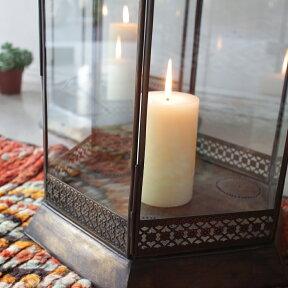 ブラス製ランタン(キャンドルホルダー)アラブ風モロッコランプ・ihex08店舗照明・エスニック・BOHO・輸入照明