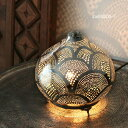 モロッコ メタルシェード・スタンドランプ/Moroccan Metal shade LampsΦ21cm/Sogan シルバー色/レインボー