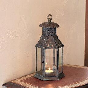 アラブ風ガラスランタン/銅製ランプトルコ製モロッコランプ・オリエンタル照明ノマド