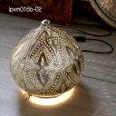 モロッコ メタルシェード・スタンドランプ/Moroccan Metal shade LampsΦ30cm/Sogan シルバー色/ロータス
