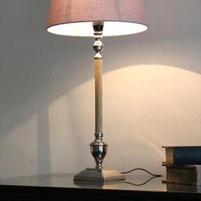 布シェードスタンドランプ/ホルダー式Φ30cm/高さ63cm/ライトグレーラウンド