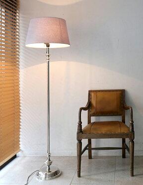 フロアスタンドライト・布シェードランプレクタングル・マットシルバーディクドルトゲン(DikDörtGen)/高さ163cmφ45cmE2640W一灯【ホテル仕様・間接照明・アンティーク調】