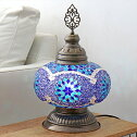 モザイクランプトルコランプモザイクテーブルランプ全高38cm直径24cmブルースターE17/25W