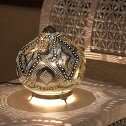 モロッコメタルシェード・スタンドランプ/MoroccanMetalshadeLampsΦ25cm/Soganシルバー色/ロータスE1725W白熱球付き