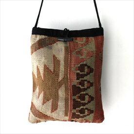 【レターパック利用可】オールドキリムのポシェットMサイズ/Turkish Old Kilim Pochette・Medium size/色うつりあり OUTLET・難あり品