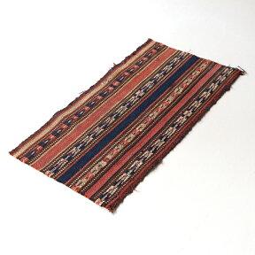 【レターパック利用可】イランの古いテント布・ガジャリキリムほつれありOUTLET・難あり品
