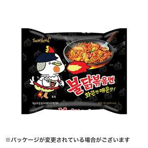 プルタク炒め【1袋】麺韓国を代表する超辛口焼きそば。青唐辛子(激辛口)に達する超強力辛口です。粉末スープはゴマと炒めた刻みのりが、液状スープは鶏肉が入っています【常温】