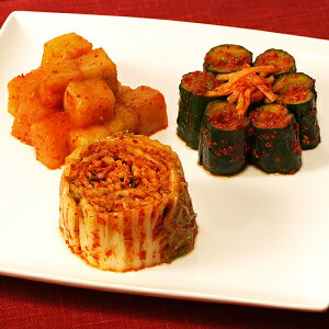 保存食 発酵食品 定番キムチ 3点セット 1.5kg 発酵食品 韓国直輸入