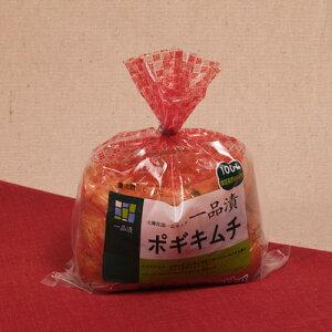 ハンウル白菜キムチは袋が膨れてきたら食べごろです