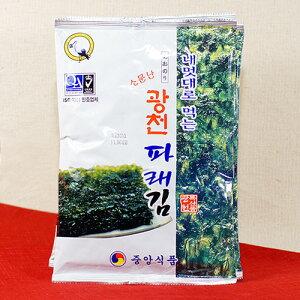 【青海苔 広川 大判サイズ 4袋セット】保存食 韓国 韓国食品 韓国食材 食品 食料品 食べ物 韓国料理 たべもの 韓国産 海苔 のり ノリ 韓国海苔 韓国のり 味付き海苔 味付きのり 味付け海苔 味