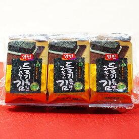 韓国海苔 えごま油 風味 お弁当サイズ 【ラッキーシール対応】