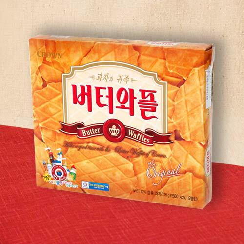 韓国菓子 バターワッフル(大) 3枚×12袋