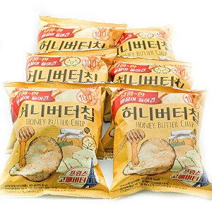 【韓国ポテトチップス ハニーバターチップ 6袋セット】韓国 お菓子 韓国食品 お土産 おやつ