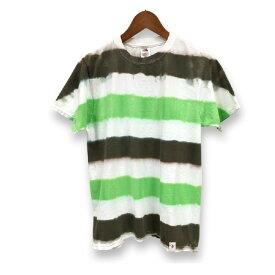 タイダイ Tシャツ 染め ボーダー 柄 フルーツ オブ ザ ルーム 半袖 Tシャツ : TS-344