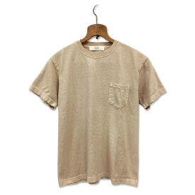 コーヒー染め ポケット Tシャツ : TS-619