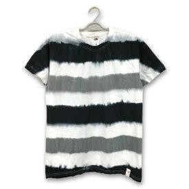 タイダイ Tシャツ 染め ボーダー 柄 フルーツ オブ ザ ルーム 半袖 Tシャツ : TS-501
