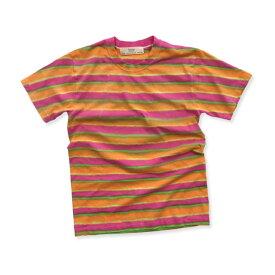 タイダイ ボーダー染め Tシャツ:TS-542