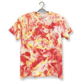 タイダイ Tシャツ 絞り むら 染め 半袖 Tシャツ : TS-442M