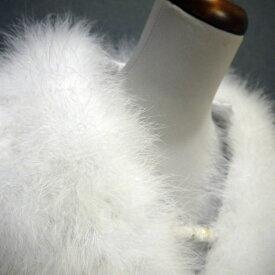 【再入荷】【人気商品】成人式 ショール 羽毛 フェザーショール 振袖用 ふわふわ 売れ筋 ストール ふりそで ファー 水鳥 マラボー 白色 ホワイト 卒業式 謝恩会