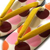 The waterdrop beige pink yellow that is easy to wear casual woman urethane sole in pop lady's sandals urethane sandals usual times showing cute fashion made in sandals urethane adjustable size Japan