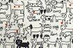 Plune.−プルーン−小風呂敷【ハンカチ】【ランチクロス】【テキスタイル】【50cm】【ねこ】