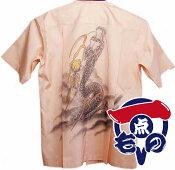 大島紬アロハシャツ7−1