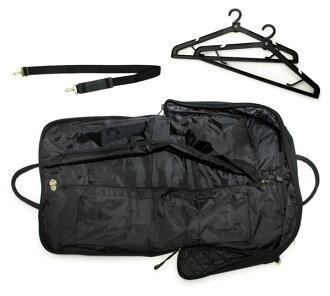 [Shoulder Bag for Kimono]  Black Quilting w/ 2 hangers