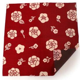 風呂敷 ふろしき 赤 こげ茶 薔薇 105cm リバーシブル 綿 日本製 かわいい おしゃれ 和 コットン ギフト プレゼント 両面 お弁当箱 エコ