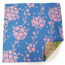 風呂敷 ふろしき 水色 黄緑 桜 105cm リバーシブル 綿 日本製 かわいい おしゃれ 和 コットン ギフト プレゼント 両面 お弁当箱 エコ